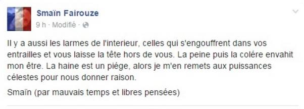 """Smaïn pleure """"sa France"""": son cousin aussi victime des assassins"""