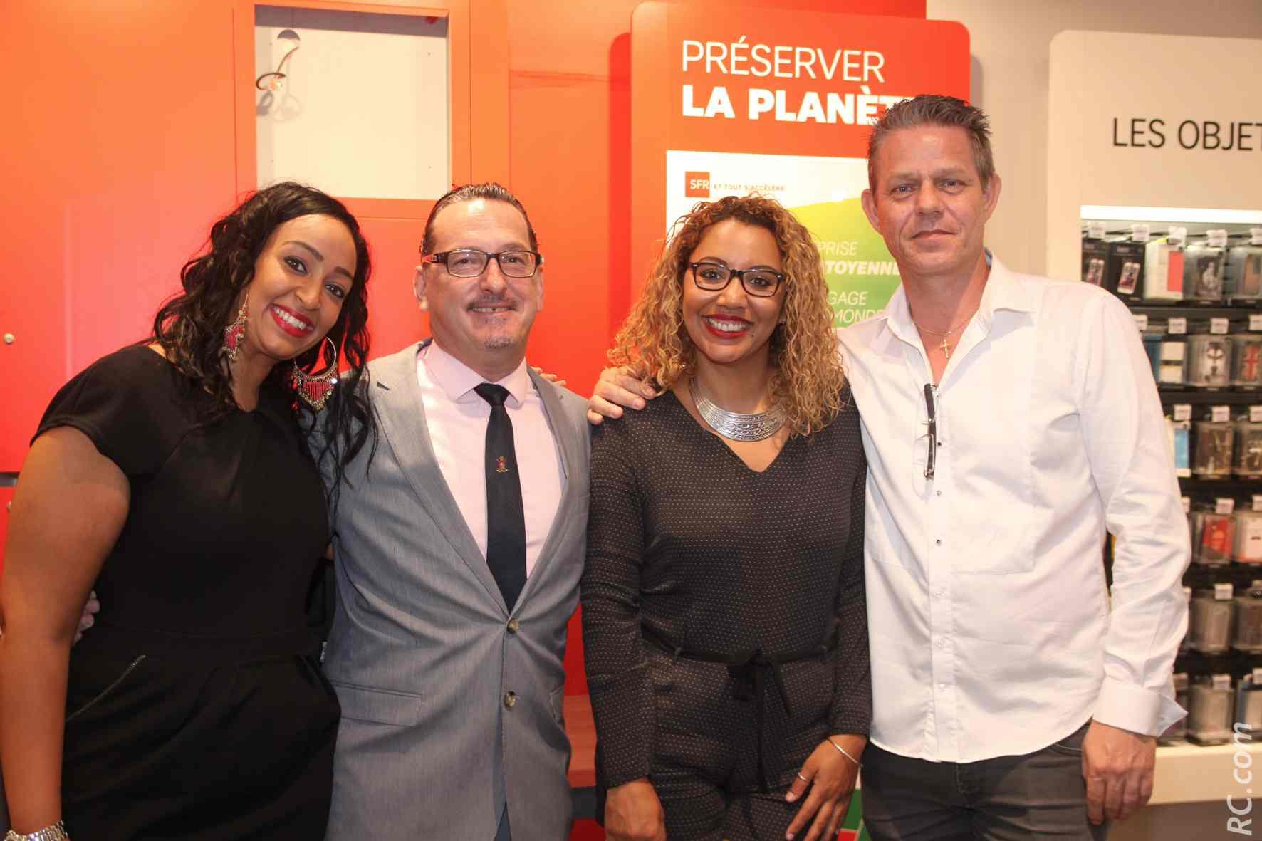 Cherine Bourot, Laurent Piédimonte, Jennifer Robur, et Olivier Durand