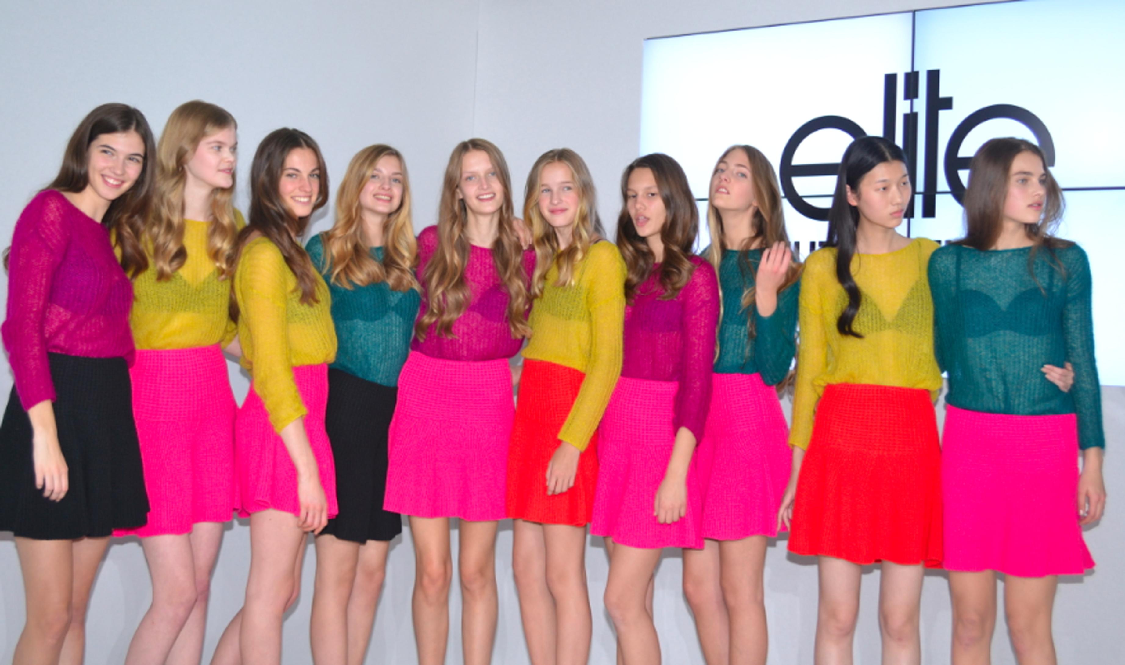 Le Top 10 Filles Elite Model Look 2015, avec Anouk et Léia au centre