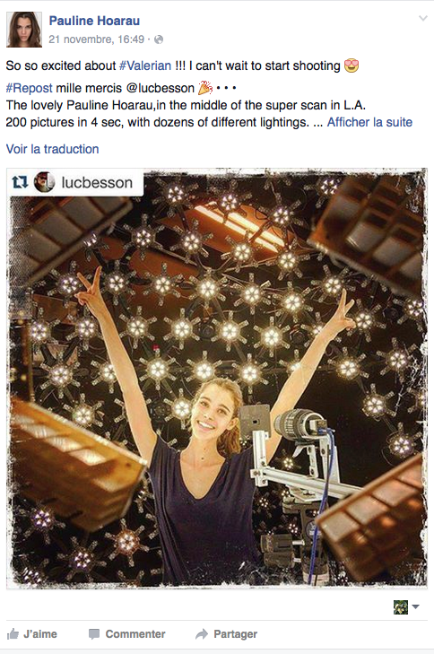 Pauline Hoarau va tourner avec Luc Besson