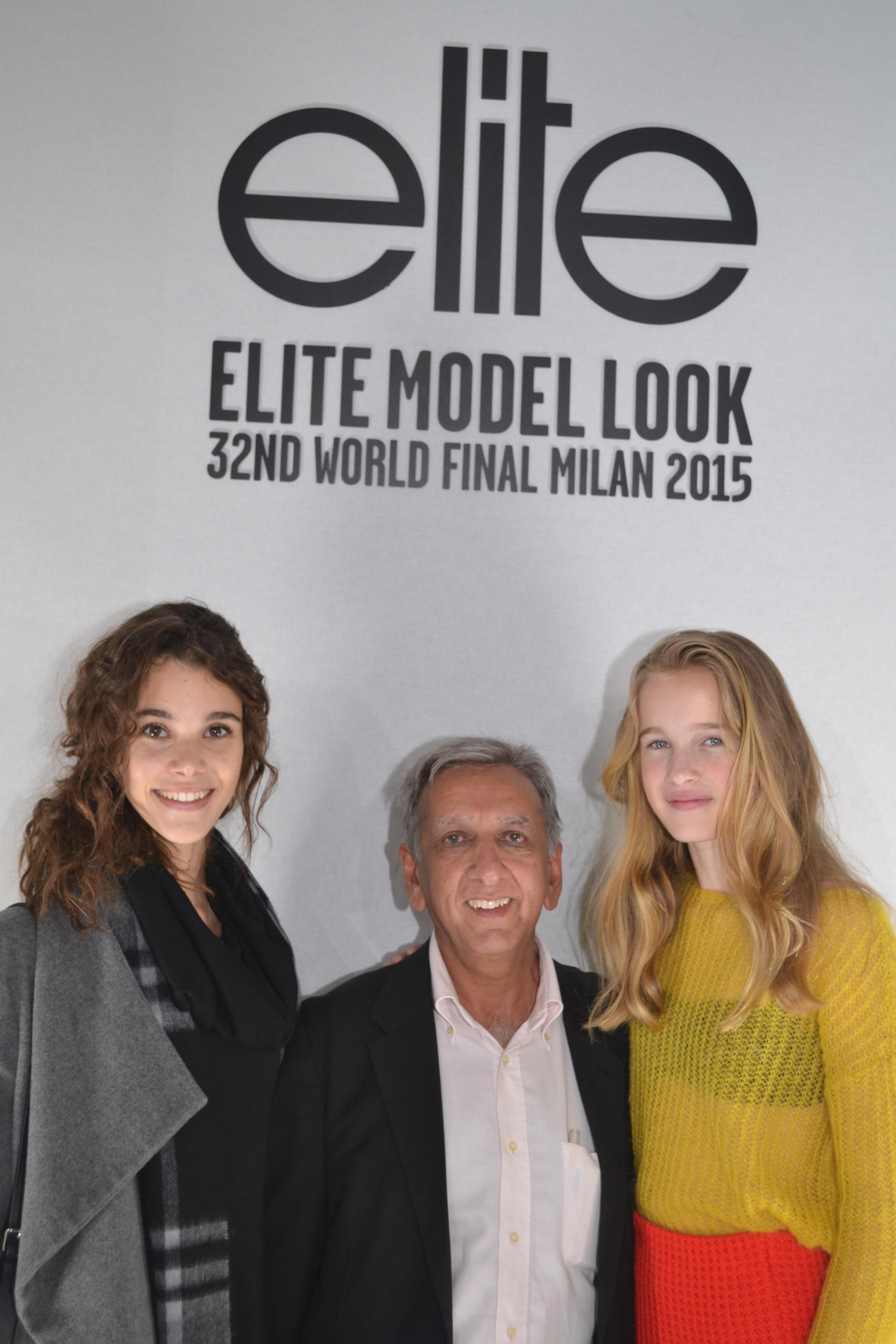 Pauline, Aziz Patel, directeur Elite Model Look Reunion et organisateur du concours Elite Model Look Reunion Island et Leia.