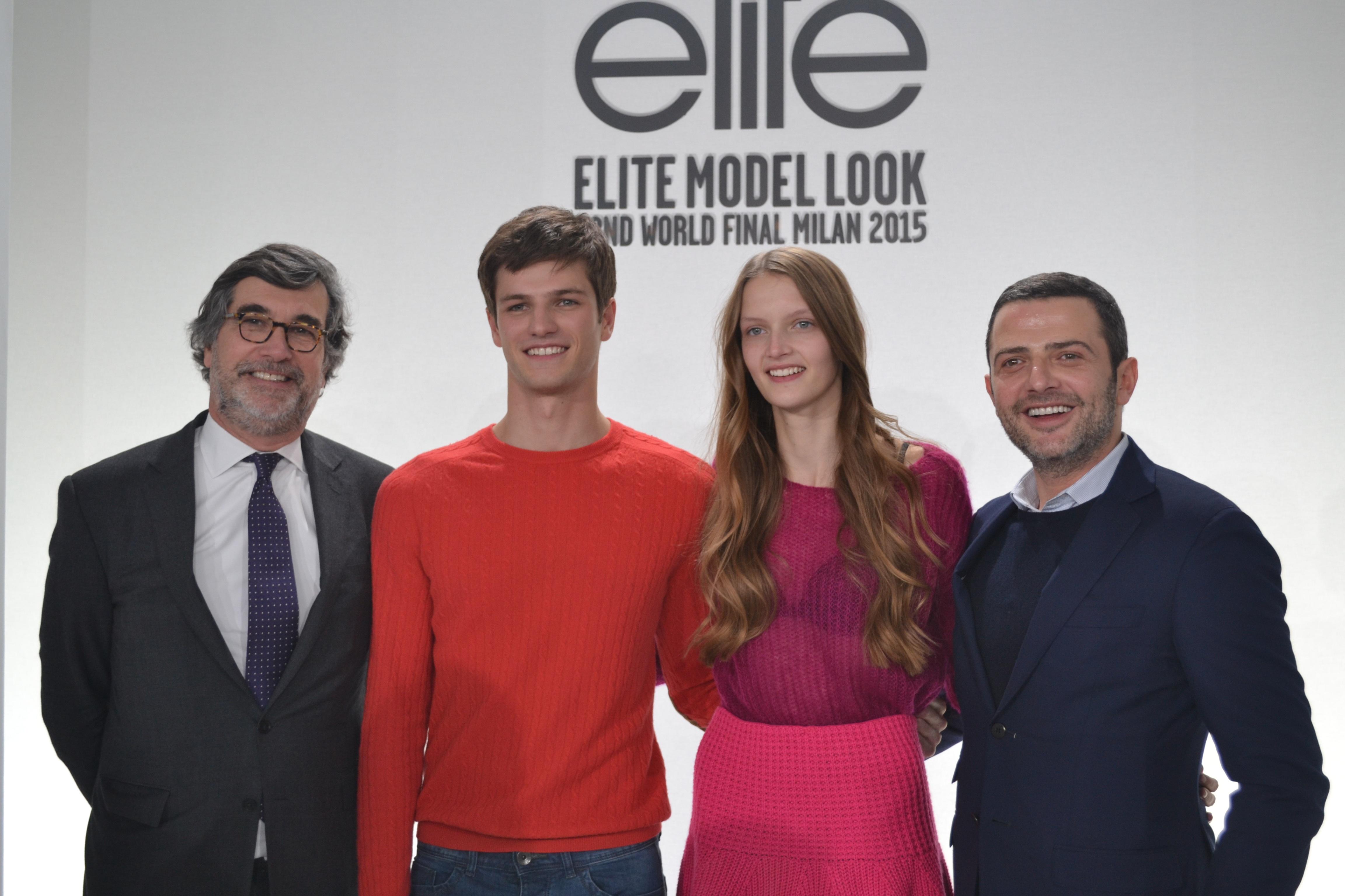 John Hooks, Tristan, Anouck, et Vic Mihaci, président d'Elite Model management