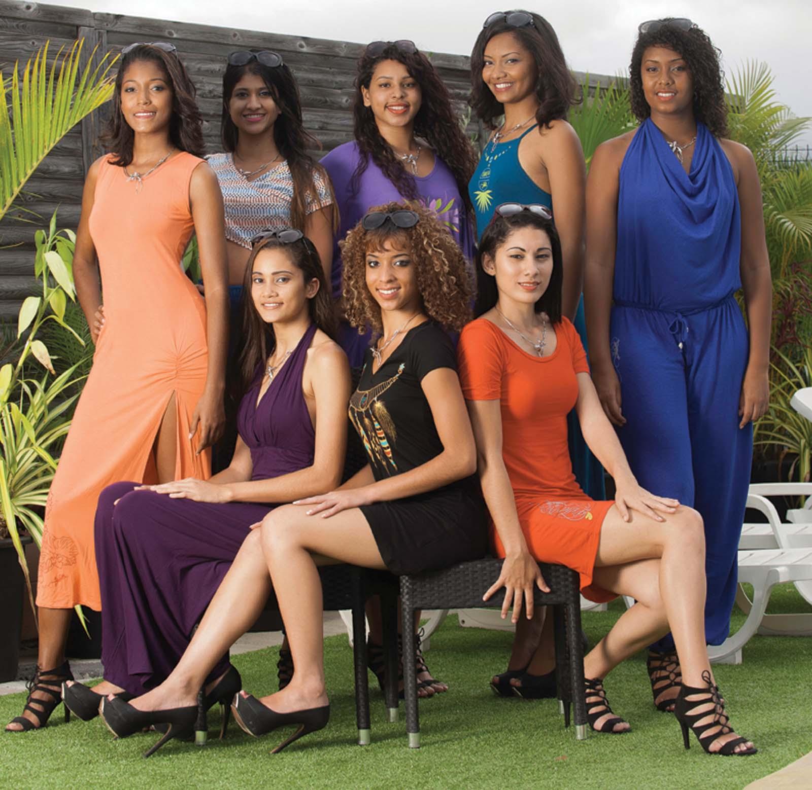 Les 8 candidates Miss Réunion Est