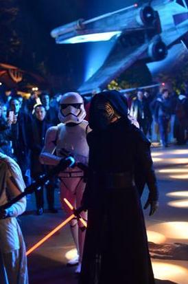 Une incroyable soirée Star Wars hier soir à Disneyland Paris