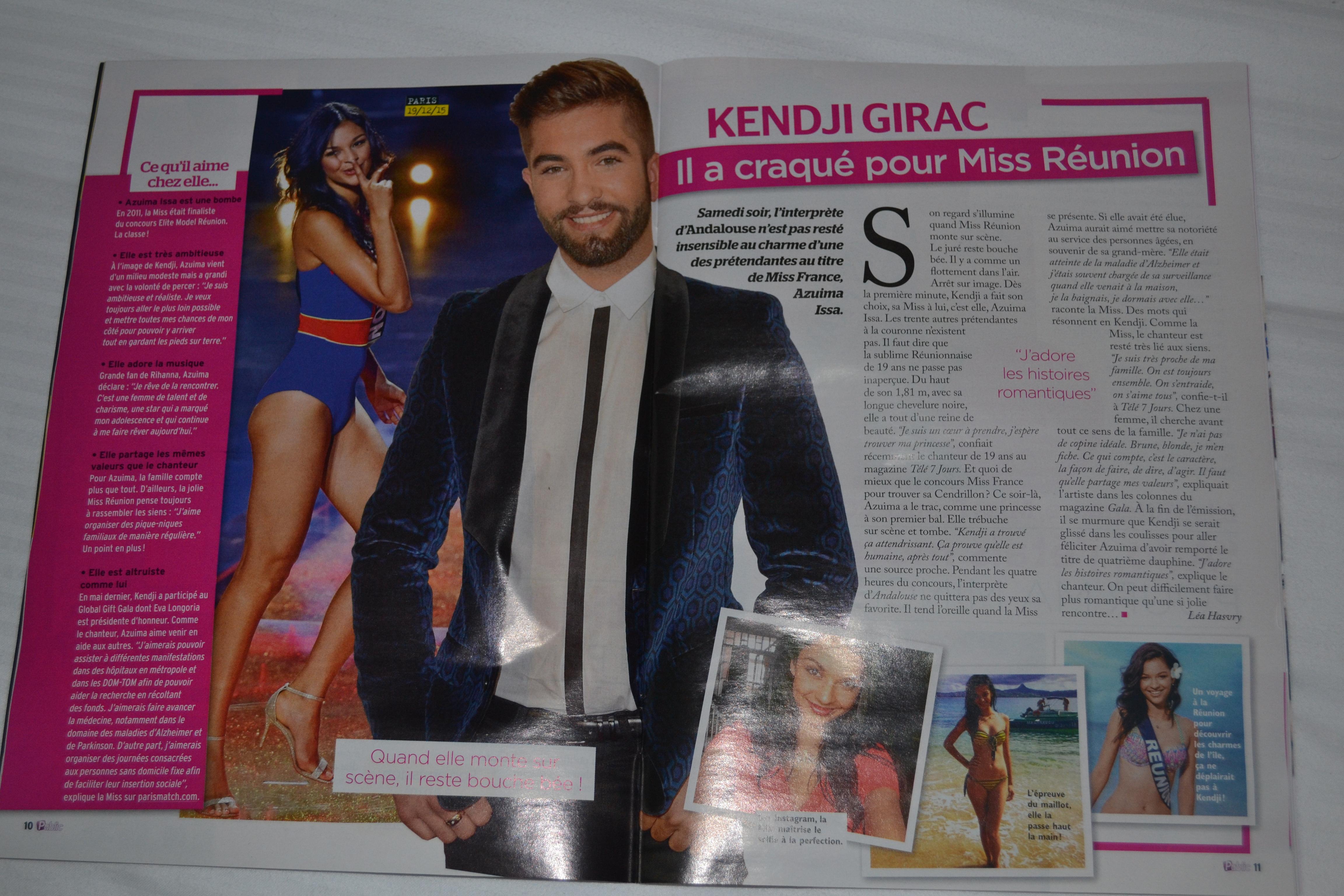 Dans le magazine, 2 pages sur Kendji Girac et Miss Réunion