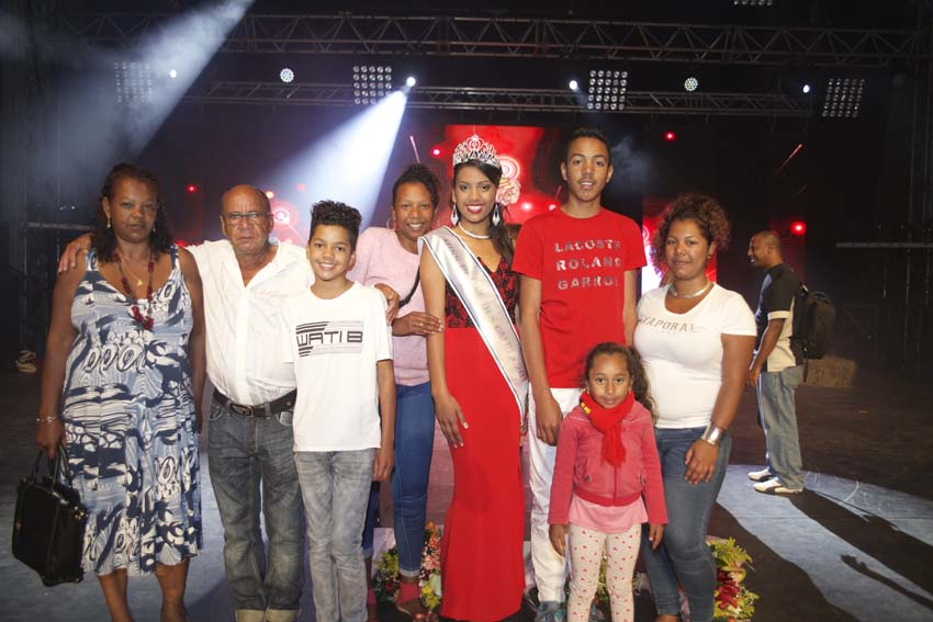 Sandrine Folio et sa famille
