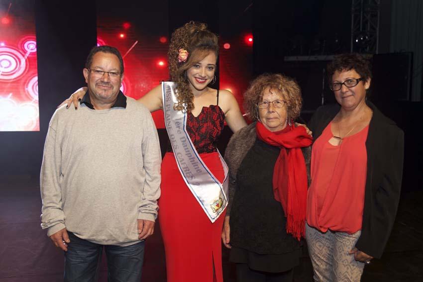 Alice Dijoux et sa famille