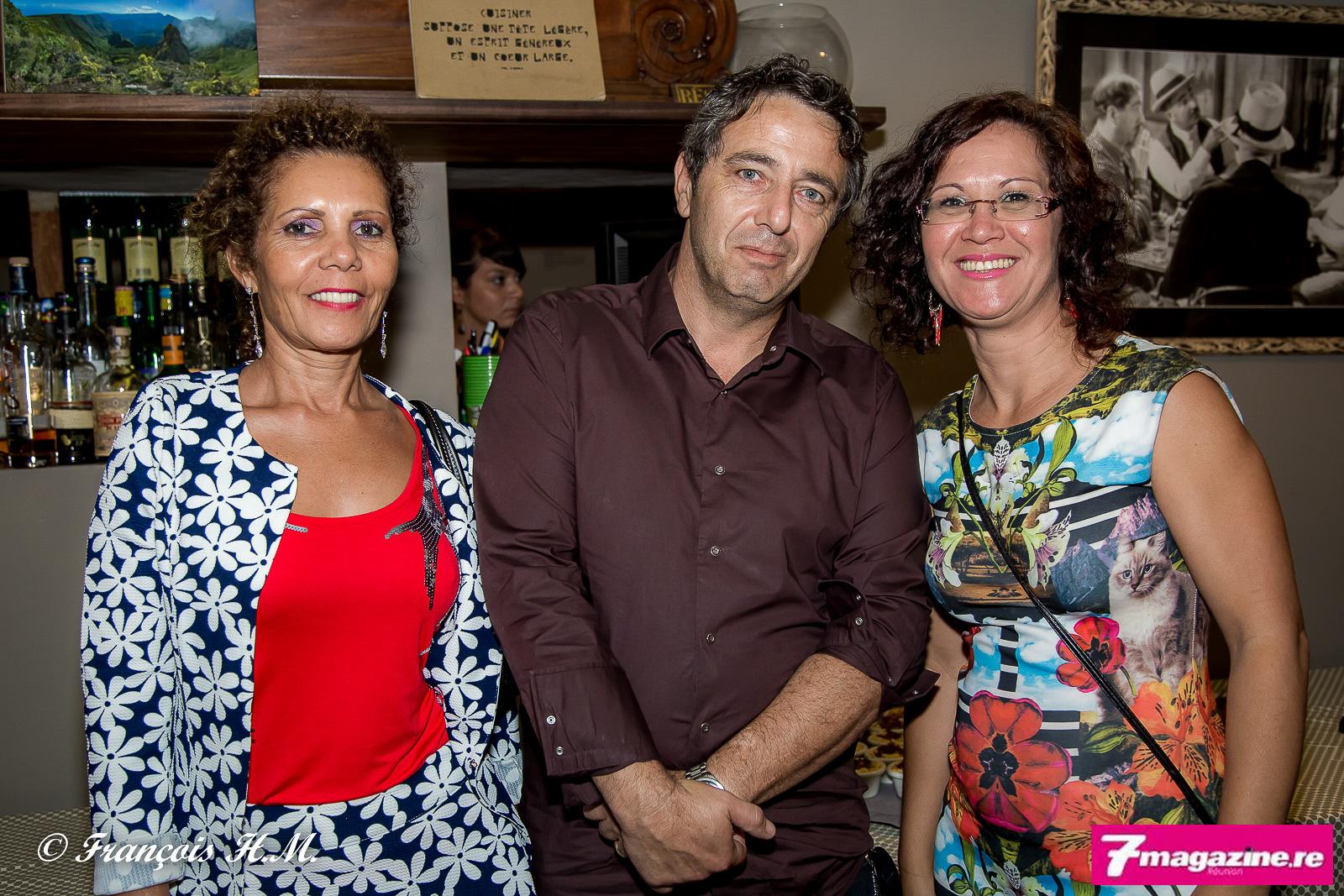 Marie-Annick Hélène de Capassur, Christophe Bossy Ascom Assurance, et Magali Pausé d'April Partenaires Réunion