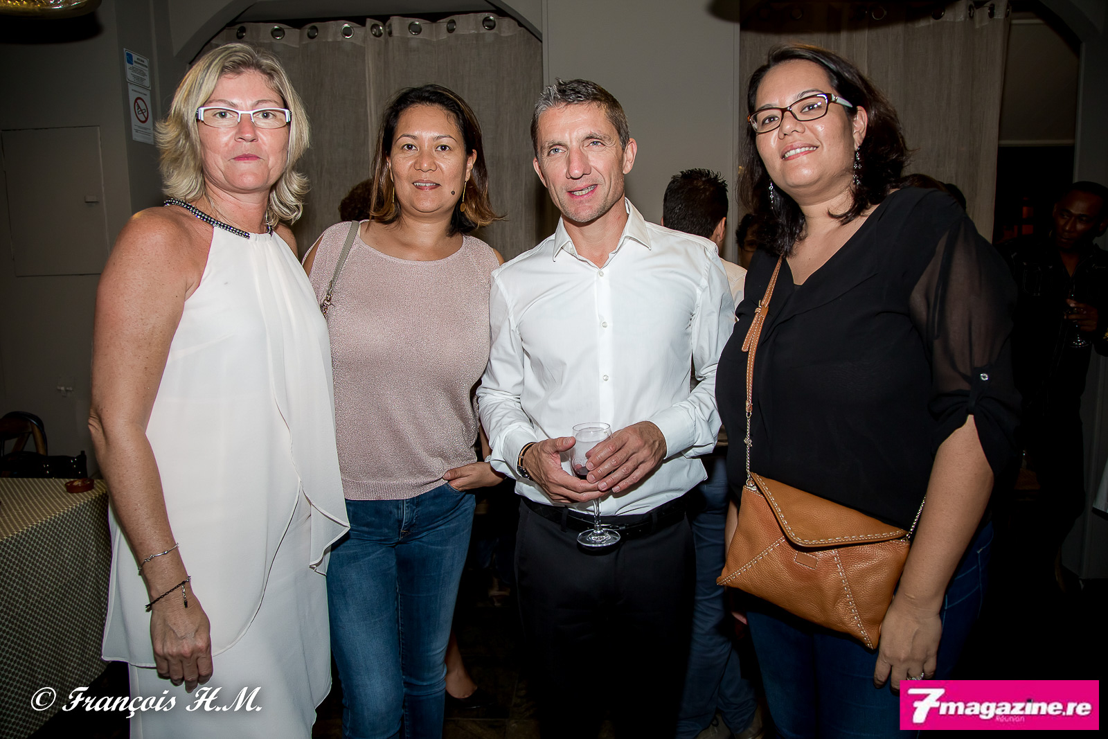 Véronique Marcy d'April Partenaires Réunion, Elodie Wan Hoi de Wan HoiAssurances, Michel Petiot, et Sandrine Wan Hoi de Wan HoiAssurances
