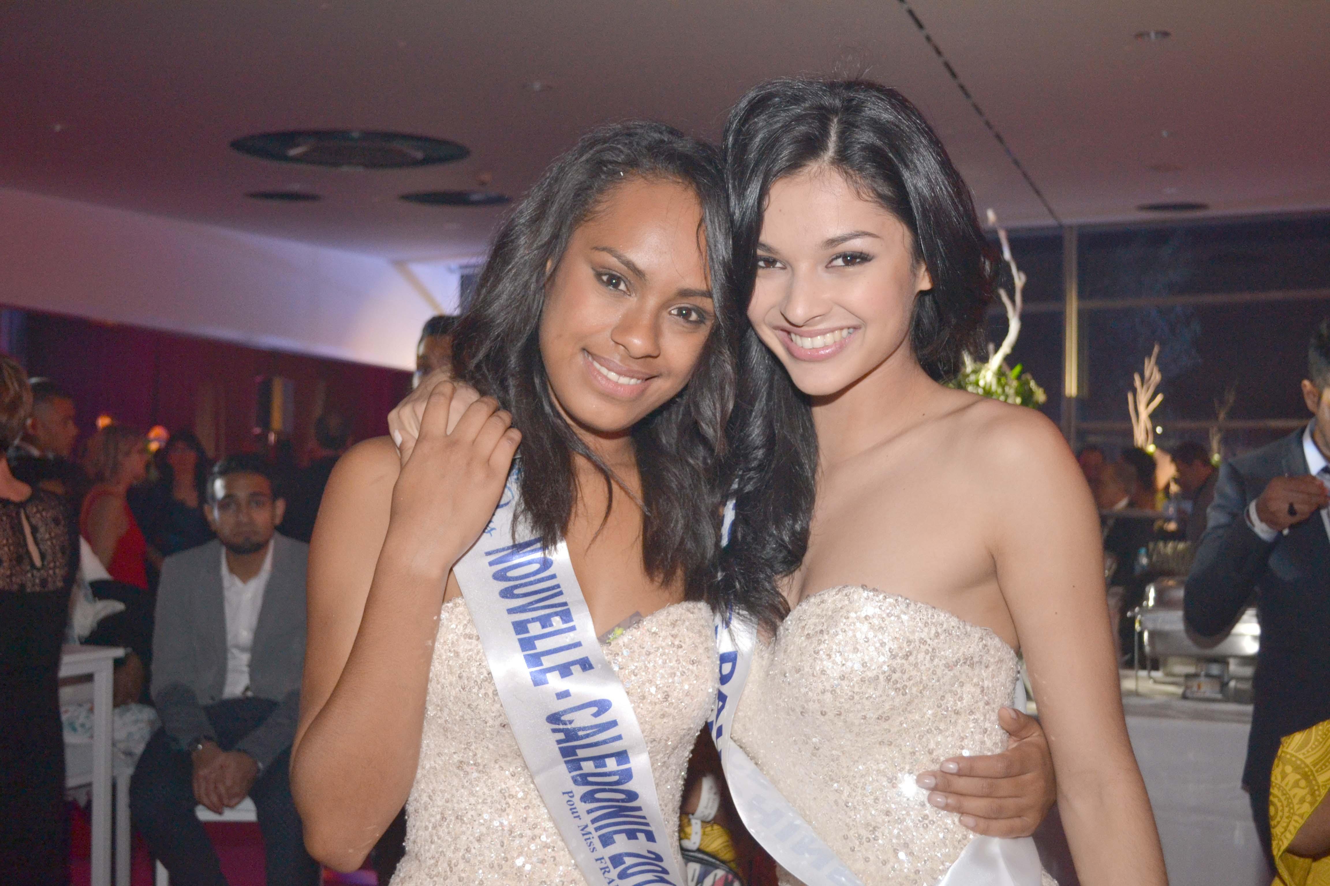 Azuima avec sa meilleure amie Miss Nouvelle Calédonie, Gyna Moereo