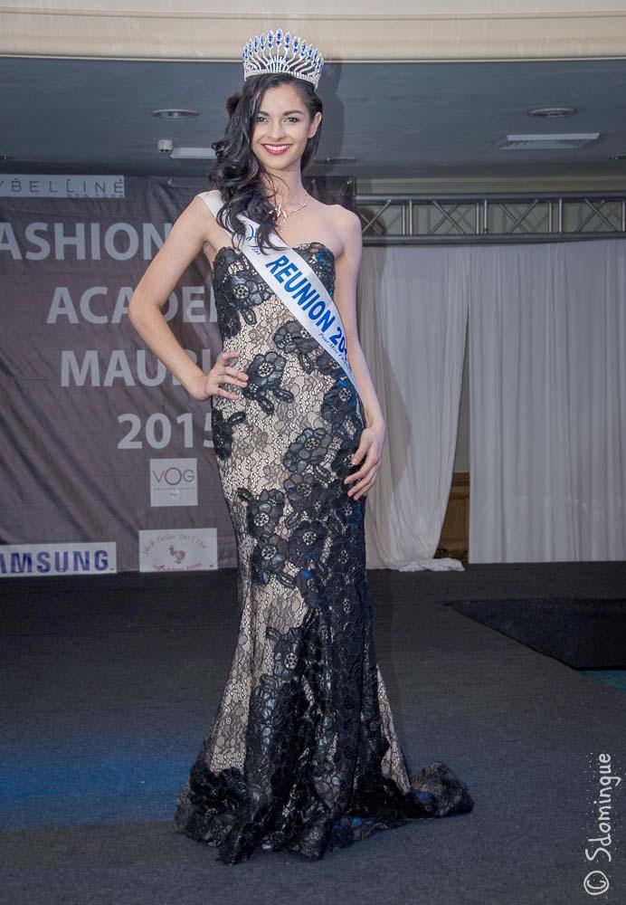 Azuima Issa, Miss Réunion, invitée de cet événement, juste avant son départ pour Miss France