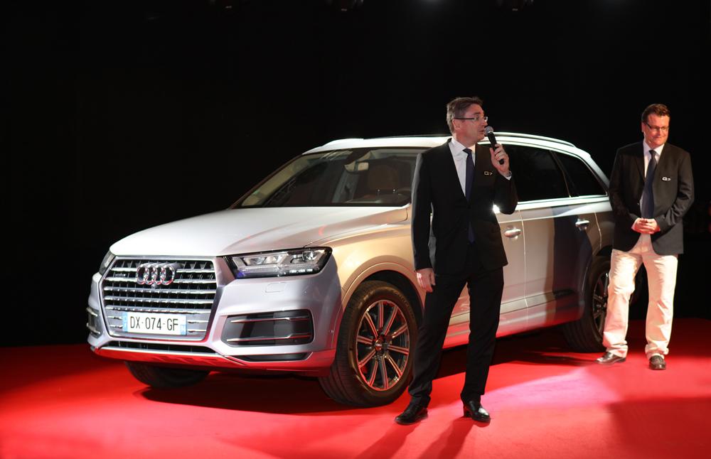 Bertrand Sireyjol, directeur général de Cotrans Automobiles et Thomas Anastaze, directeur de marque Audi Cotrans Automobiles