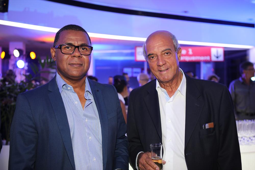 Mettre Yves Ethève (à droite), président de Mauréfilms, avec un ami