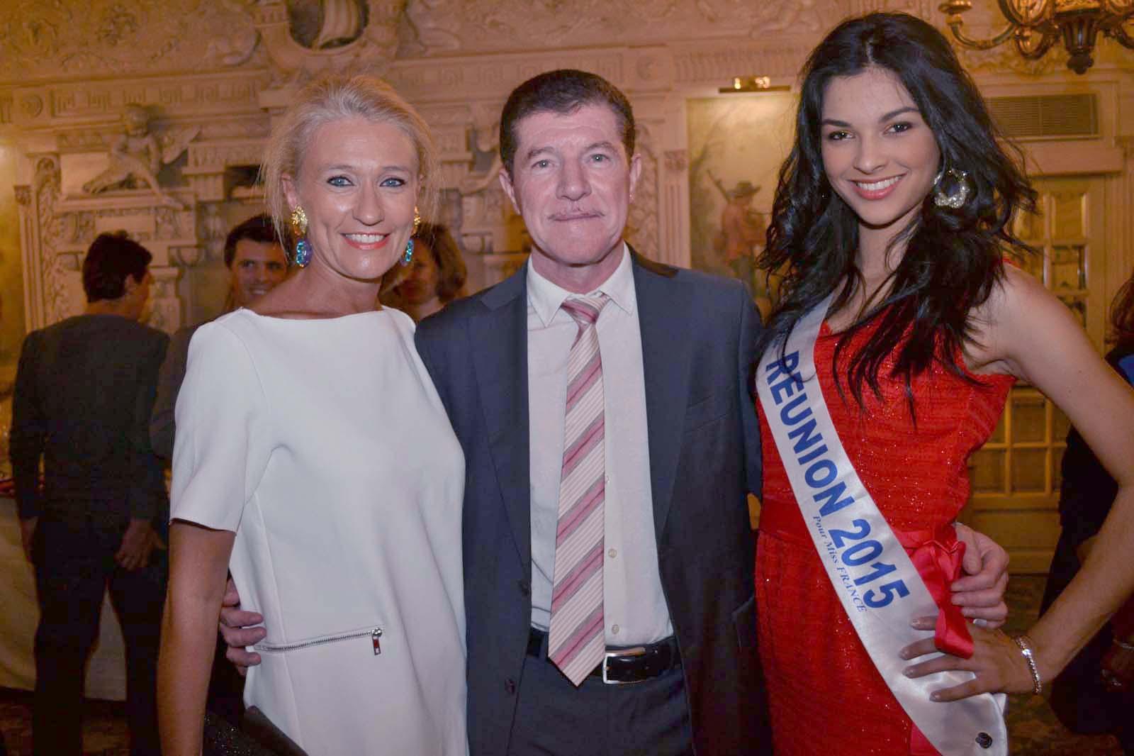 Catherine Ronin, Marcelino Burel et Miss Réunion 2015