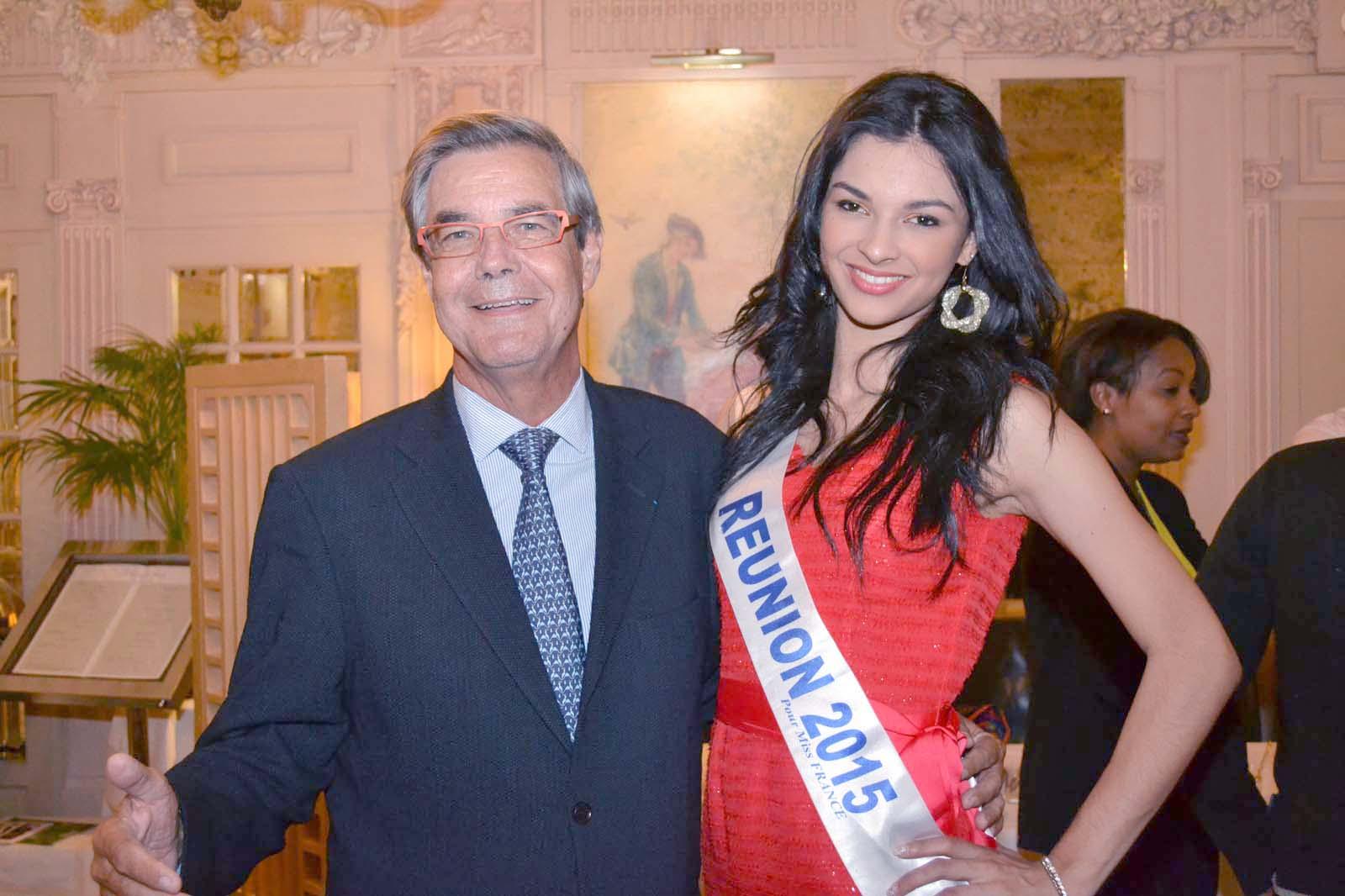 Michel Ducaux, Expert Comptable,Commissaire aux Comptes, président d'honneur du CROEC et Azuima Miss Réunion 2015