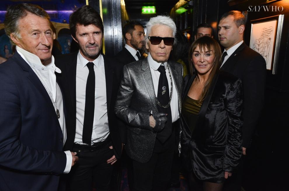 Paul-Emmanuel Reiffers, Karl Lagerfeld, Babeth Djian, Eric Pfunder