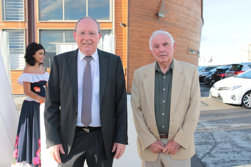 Jean-Pierre Kinoo, directeur général de Cap Bourbon, et Michel Albin, président du Conseil d'Administration de Ccap Bourbon