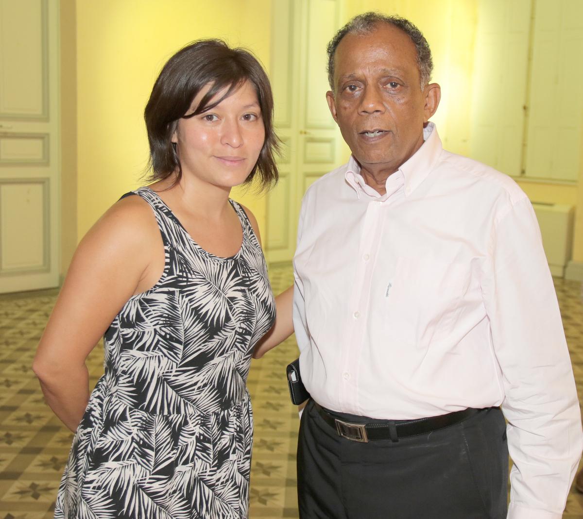 Gilbert Annette avec Christelle Chon-Nam, membre très active de la JCE Saint-Denis et citée en exemple!