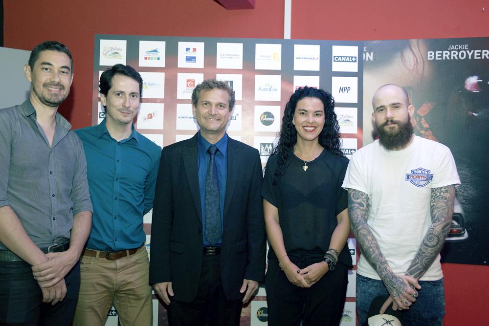Charles Lauret de Canal+, Erwan Edern d'Air France, Olivier Rivière, Valérie Marianne de Canal+ et Fausto Fasulo de Mad Movies