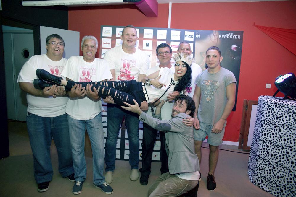 Avec l'équipe de la Salle Henri Madoré de Saint-Philippe