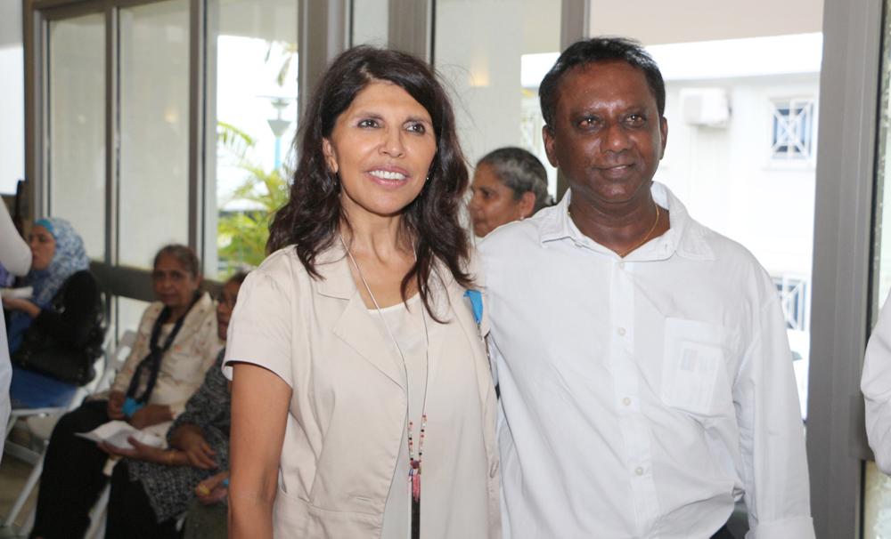 Nassimah Dindar et Phillippe Poninballom de Allianz