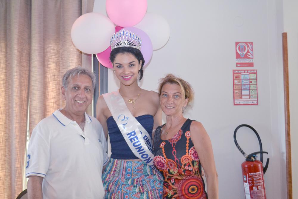 Aziz Patel du Comité Miss Réunion, Azuima et Kathy