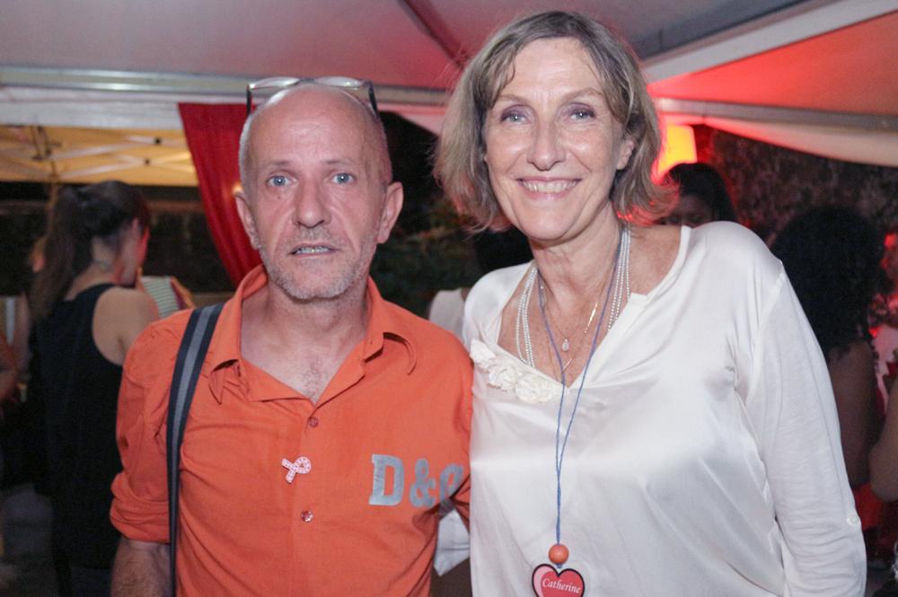 Stéphane Ducamp de l'association Orizon, et Catherine Gaud