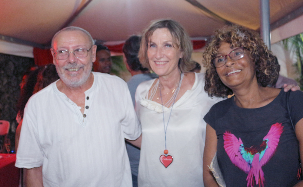 Catherine Gaud avec Maurice et Gislaine Loger