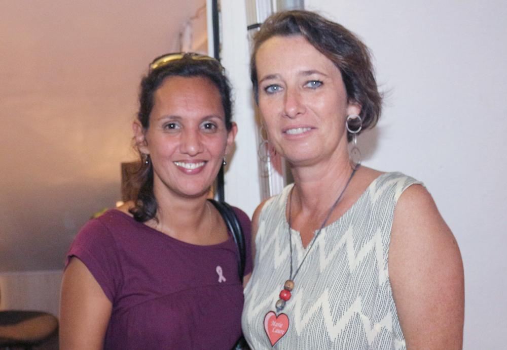Sandrine Hermance du Planning Familial, et Marie-Laure Veyrat