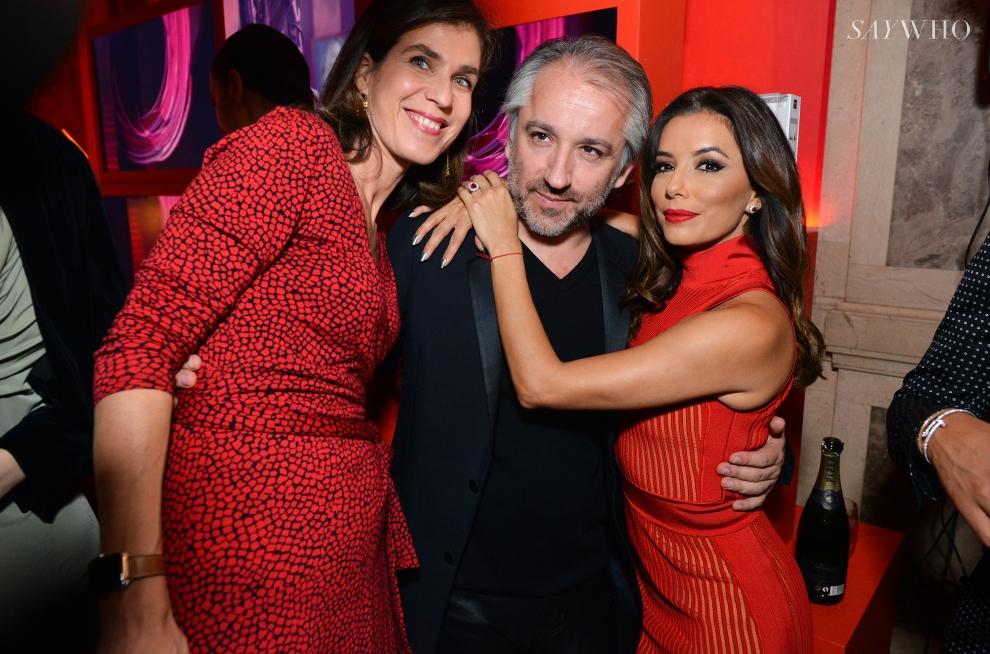 Cyril Chapuy, Eva Longoria et Vanessa Van Zuylen