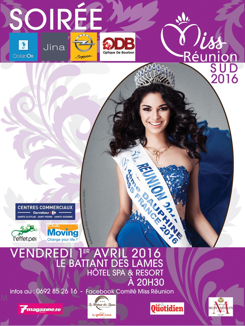 Miss Réunion Sud<br> Les 10 candidates