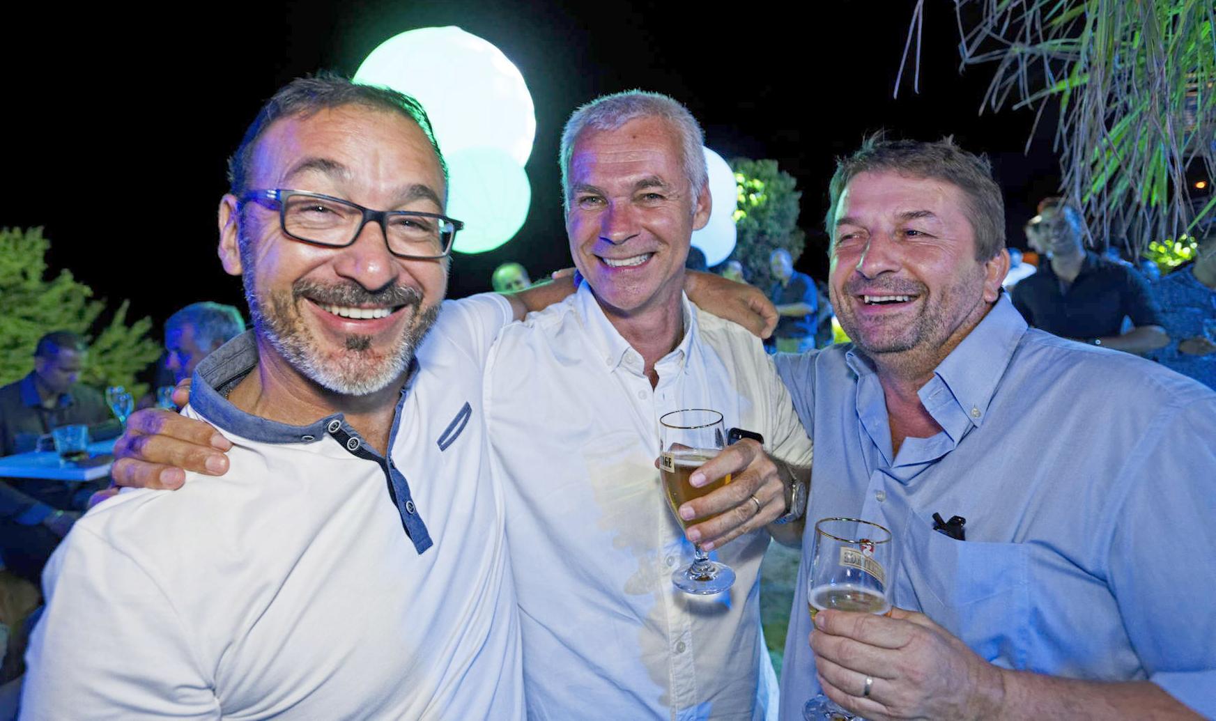 Thierry Thibault, Responsable génie civil TP chez Plaka France, Hervé Christophe, gérant de Pico Entreprise, Roberto Fabritti, Directeur de Laboratoire SEGC
