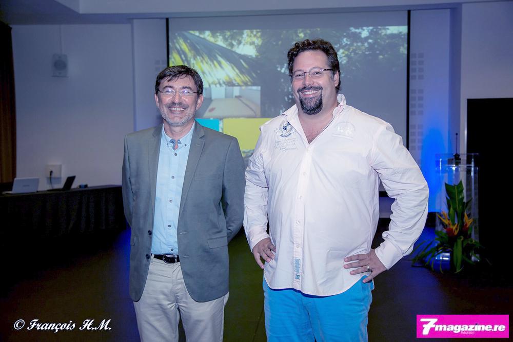 Fabrice Manson, directeur général Exsel Authentic hotels, et Yann Lefebvre, président du groupe Exsel Authentic hotels