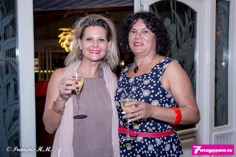 Ingrid Averianoff et Brigitte Mondésir, directrice du Floralys Hôtel