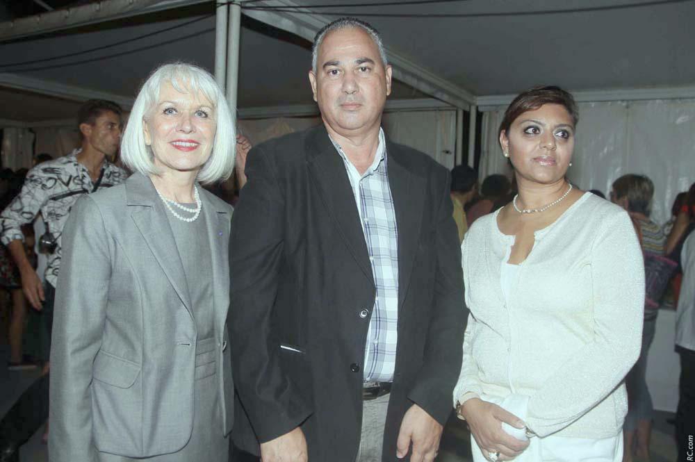 Isabelle Lemarchand avec Christian Robert du Conseil Régional et son épouse
