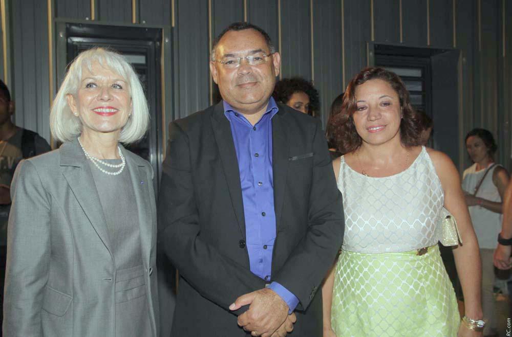 Isabelle Lemarchand avec Bernard Picardo et son épouse
