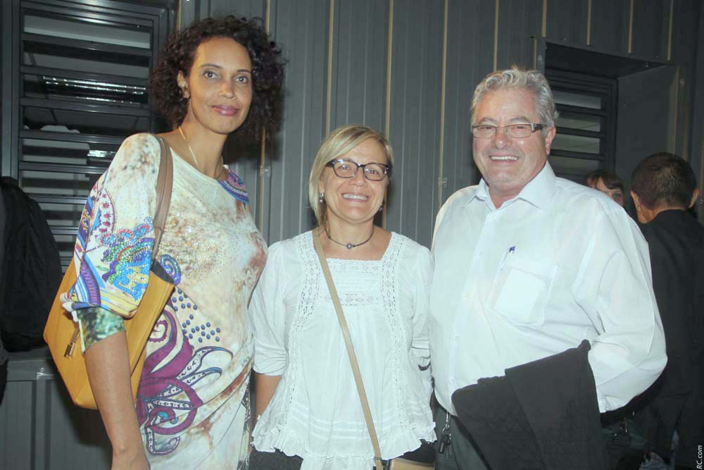 Margaret Hoareau, représentante des parents d'élèves, et  Pierre Jean Bourquin