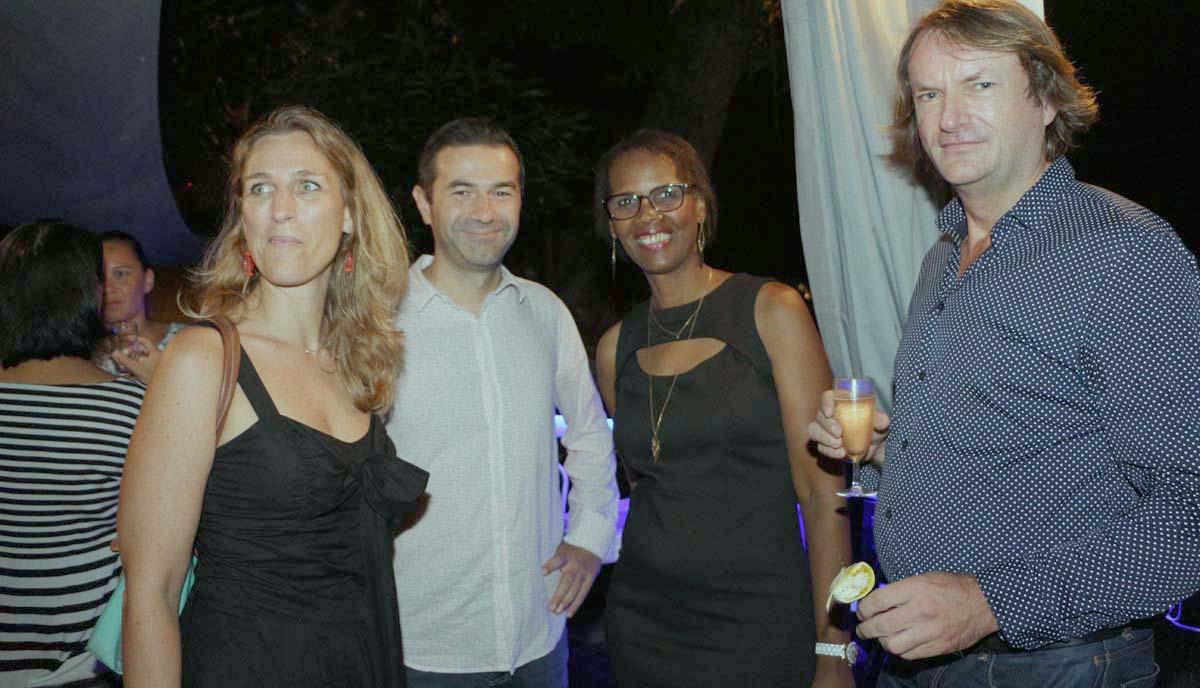 Mr et Mme Leca, directeur marketing Orange Réunion/Mayotte, Louisiane, et Pascal Szabo, directeur des achats à Orange