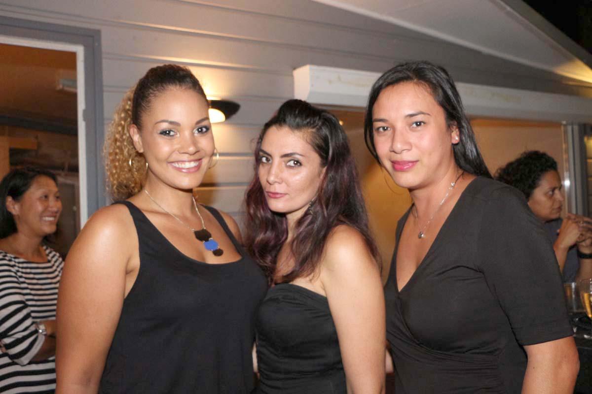 Anne Laure Le Carff, Nathalie Grondin et Carine Chan Hin Chune, chargées de communication