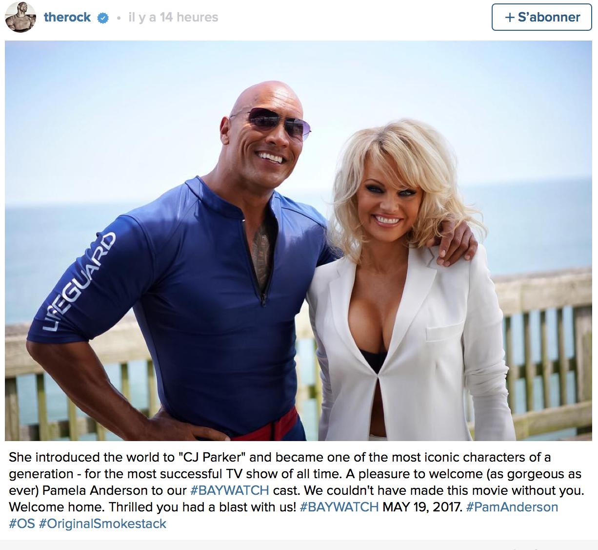 Le célèbre Dwayne Johnson jouera le rôle principal dans le film, c'est lui qui a révélé que Pamela fera partie du casting