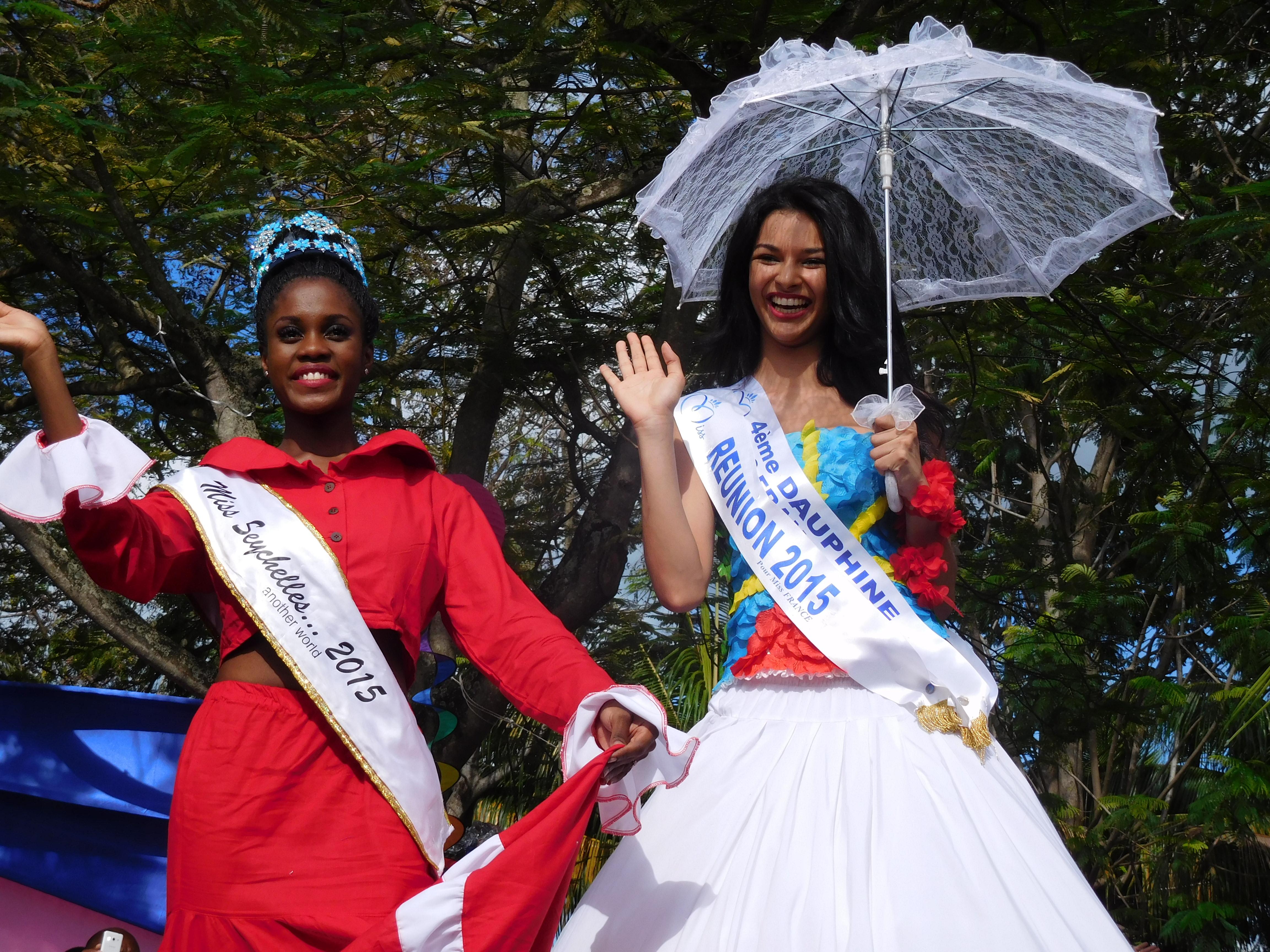 Linne Freminot, Miss Seychelles 2015 et Azuima Issa, Miss Réunion 2015