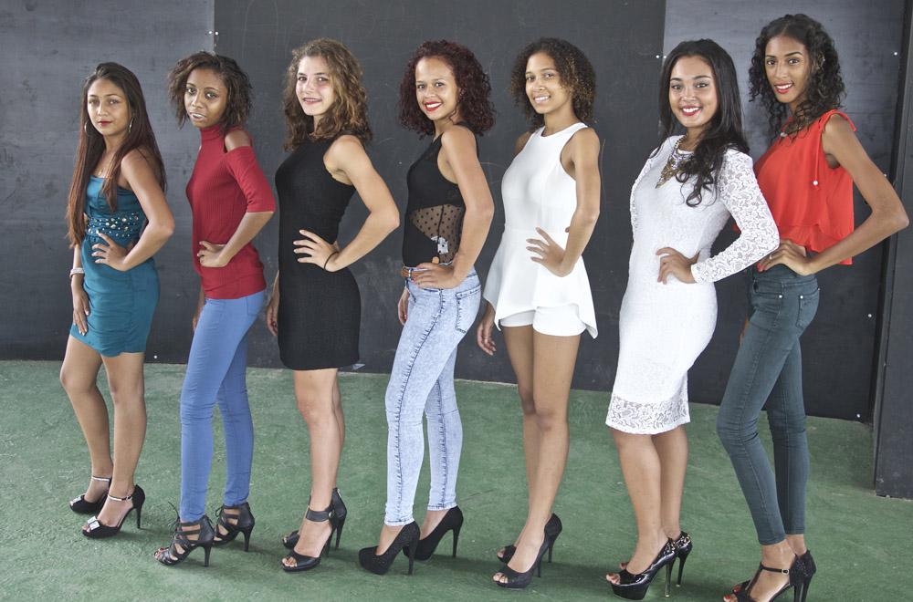 Les 7 candidates Miss Bras Panon 2016