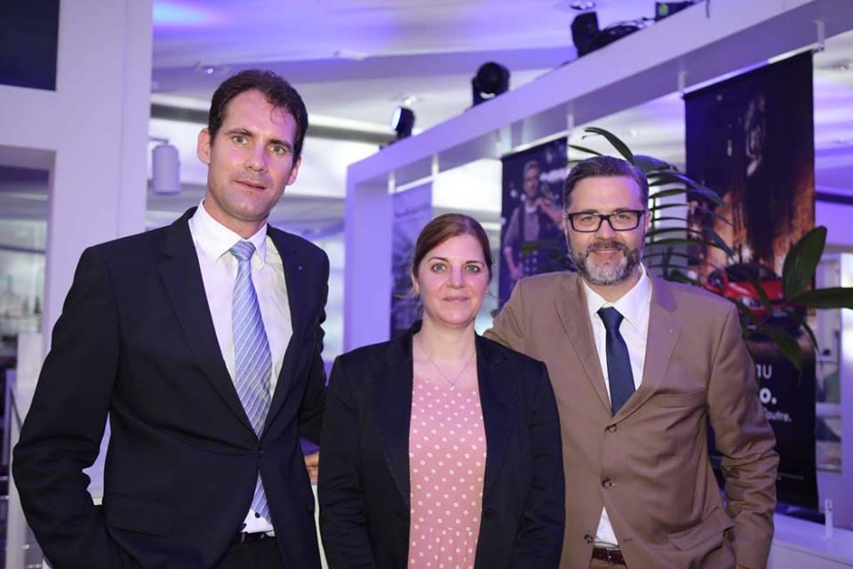 Yannick Nobilet, directeur commercial et marketing Volkswagen, Mélanie Hoëser, responsable de marchés, Sven Kunath, directeur Volkswagen Europe du Sud-Ouest