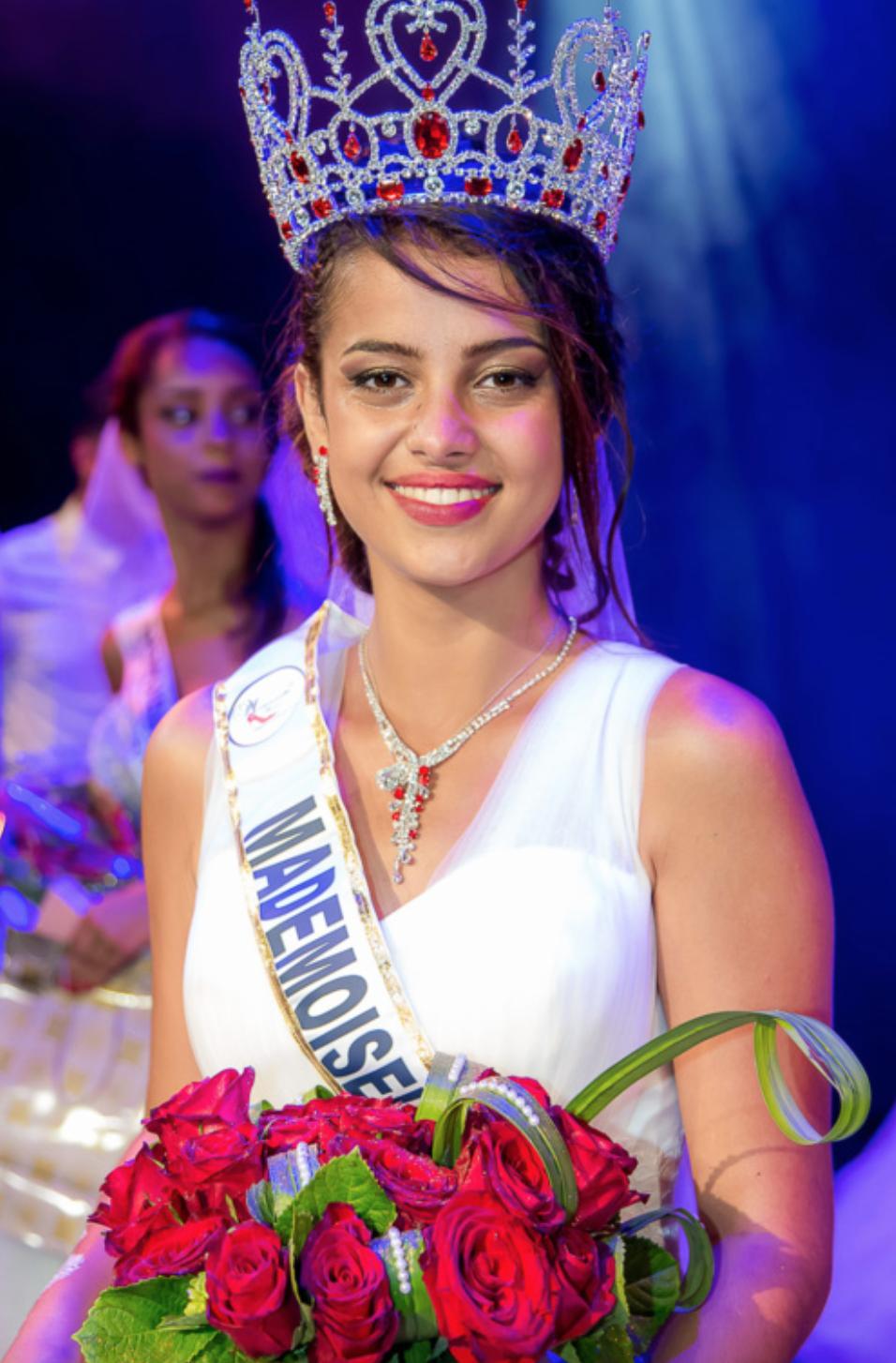 Fatima Hoarau avait été élue Mademoiselle Ile de La Réunion en janvier (photo François Ho-Mouye)