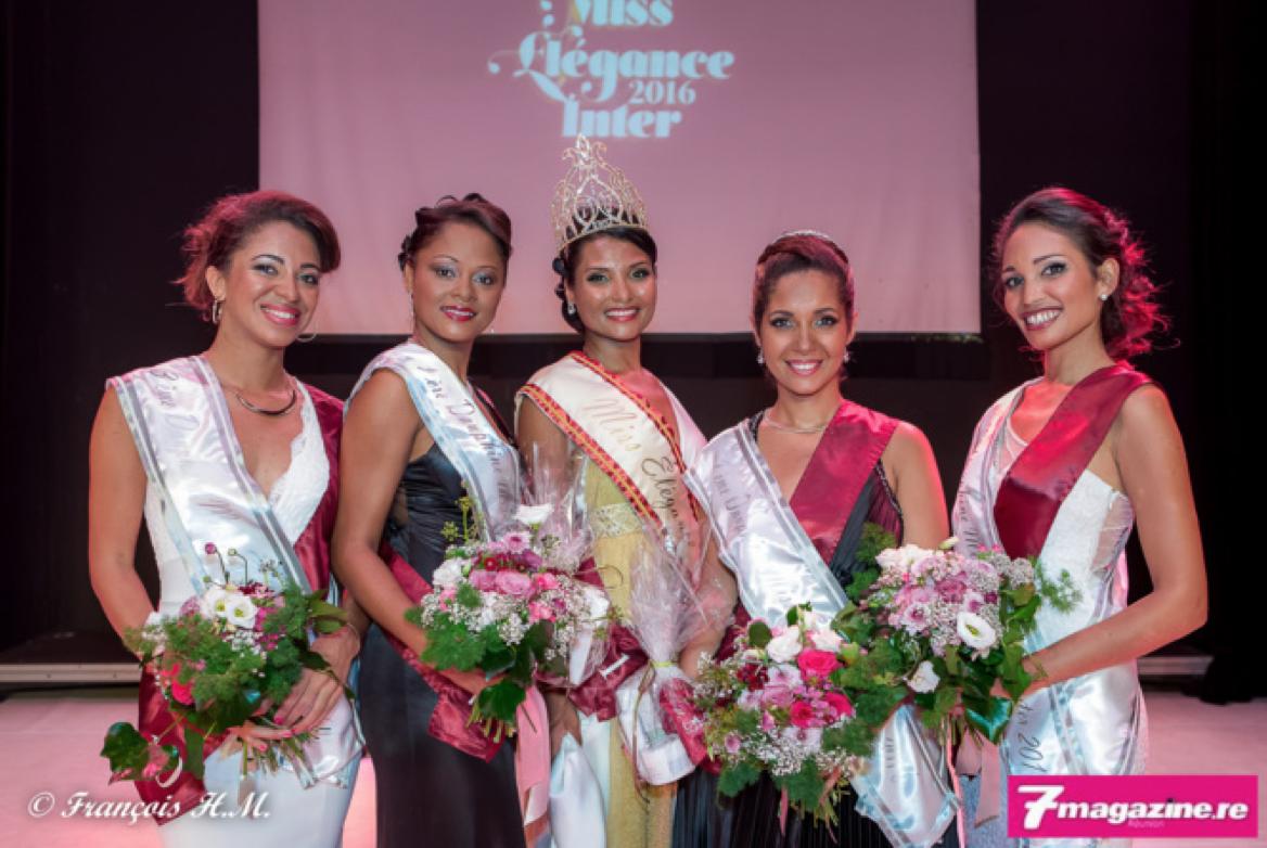 Les lauréates de l'élection: Emilie Louis, Natasha Basso, Florence Cataye, Elodie Léocadie et Virginie Abbuféra