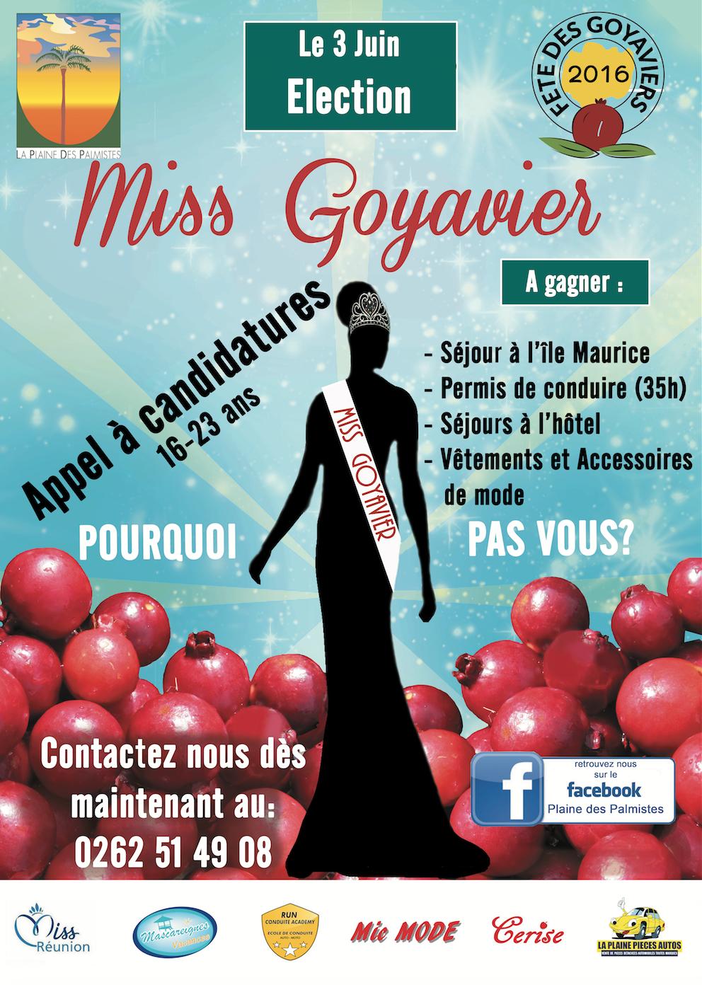 Miss Goyavier 2016<br>Le casting est ouvert!