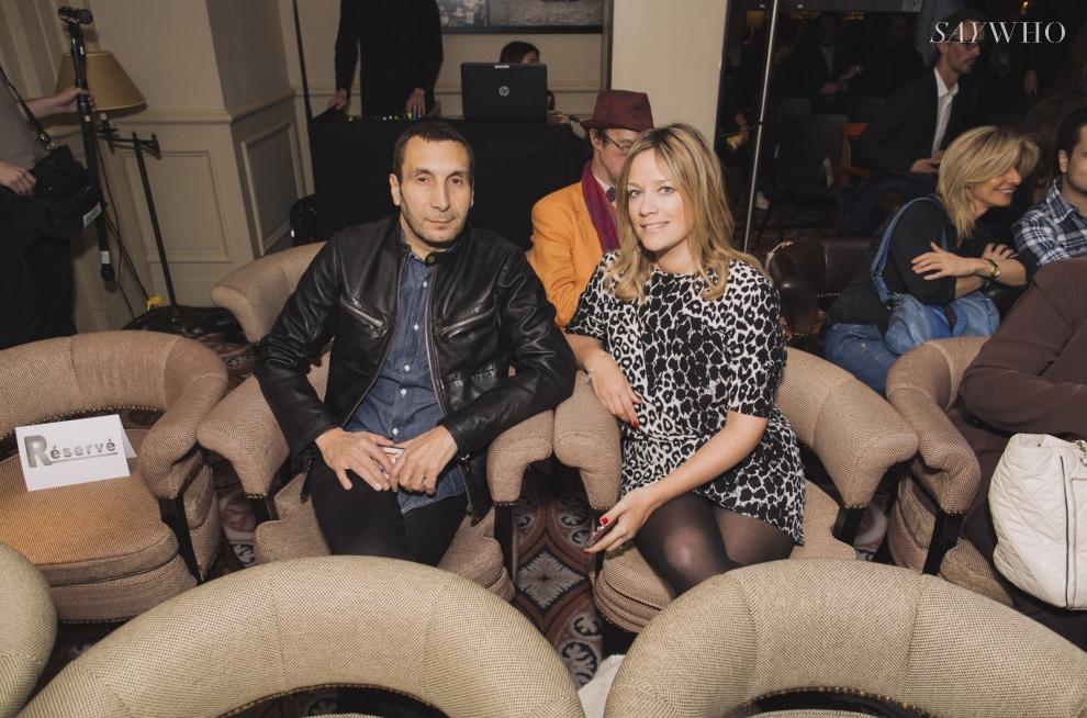 Zinedine Soualem et Caroline Faindt
