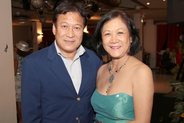 Floryse Wang Fong et son époux Alain du Lions Club Savannah Alamanda