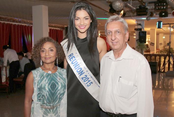 Marie-Annick Boucher, Azuima Issa et Aziz Patel du Comité Miss Réunion