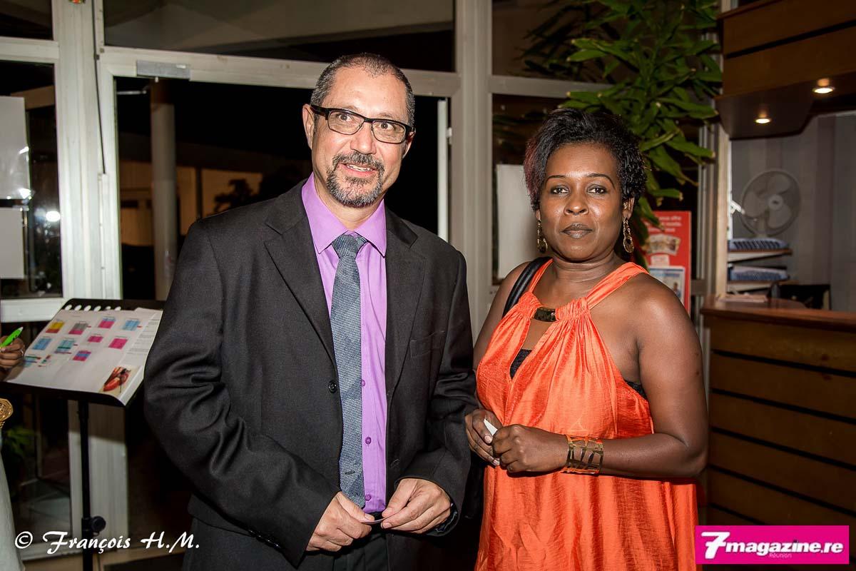 Louis Bertrand Grondin, élu de la Région Réunion, et son épouse